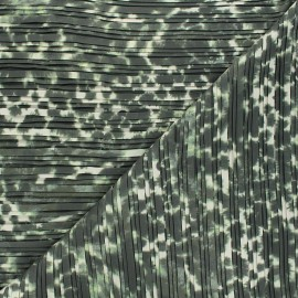 Tissu polyester plissé Tatiana - vert x 50cm