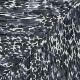 Tissu polyester plissé Tatiana - gris x 50cm