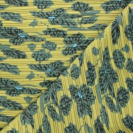 Tissu polyester plissé Chantal - vert x 50cm