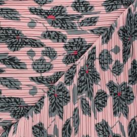Tissu polyester plissé Chantal - rose x 50cm