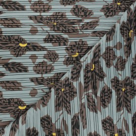 Tissu polyester plissé Chantal - gris x 50cm
