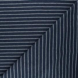 Tissu sweat léger Frenchy - bleu x 10cm