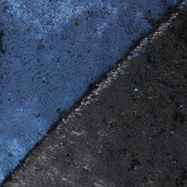 Mat reversible sequin fabric - blue Agnetha x 10cm