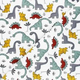 Tissu sweat Poppy Sweet Dino - gris x 10cm