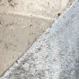 Mat reversible sequin fabric - golden/silver Agnetha x 10cm