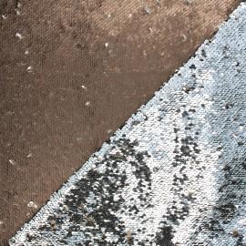 Tissu sequins réversibles Anni - bronze/argenté x 10cm