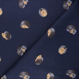 Printed jersey fabric - midnight blue Erizo x 10cm