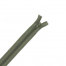 Nylon zipper - khaki green