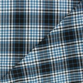 Tissu tartan Perth - bleu x 10cm