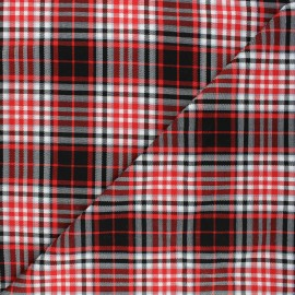 Tissu tartan Perth - rouge x 10cm