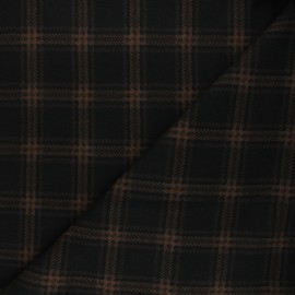 Knitted polyviscose fabric - brown Scotland x 10cm