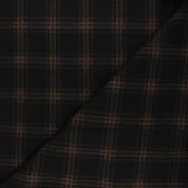 Tissu maille polyviscose Scotland - marron x 10cm