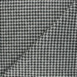 Tissu lainage stretch Cross - noir x 10cm