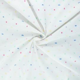 Plumetis cotton voile fabric - white Pastel x 10cm