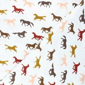 Tissu jersey Poppy Horses - c x 10cm