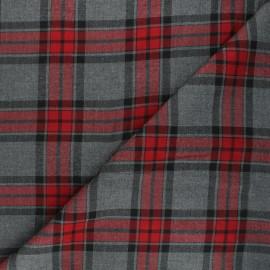 Viscose fabric - red Plockton x 10cm