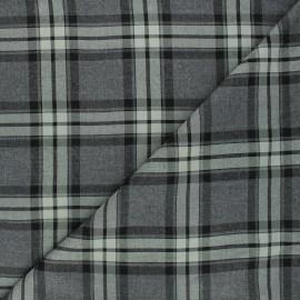 Twill viscose fabric - green Plockton x 10cm