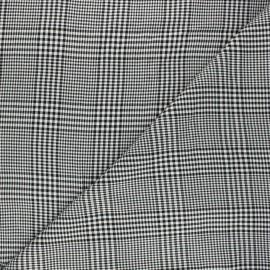 Twill viscose fabric - black Glen x 10cm