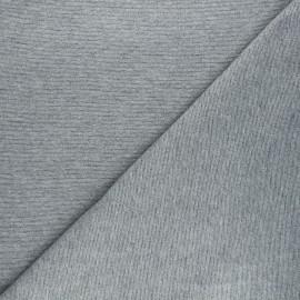 Lurex french terry fabric - grey Liny x 10cm