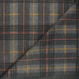 Knitted polyviscose fabric - grey Scotland x 10cm