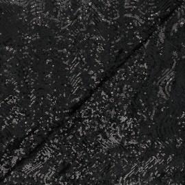 Tissu sequins Glitty - noir x 10cm