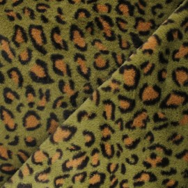 Tissu fourrure Ivanova - vert x 10cm