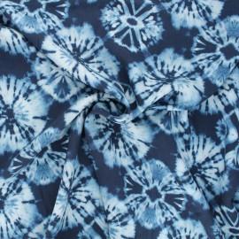 Tissu viscose Tie and Dye - bleu x 10cm