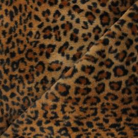 Tissu fourrure Ivanova - marron x 10cm