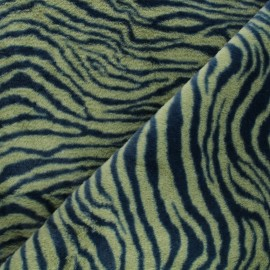 Faux fur fabric - green Félindra x 10cm