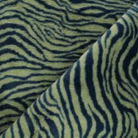 Tissu fourrure Félindra - vert x 10cm