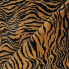 Faux fur fabric - brown Félindra x 10cm
