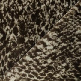 Faux fur fabric - brown Panthère de l'amour x 10cm