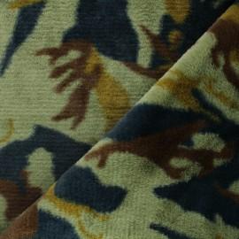 Faux fur fabric - green Okta x 10cm