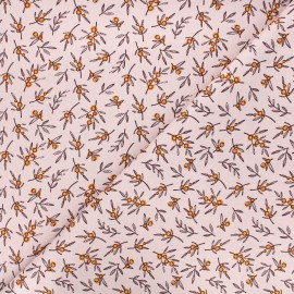 Cotton poplin fabric - light pink Berries x 10cm