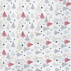 Tissu coton Christmas tree - écru x 10cm