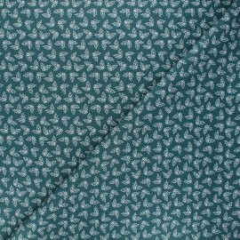 Cotton fabric - pine green Holly x 10cm
