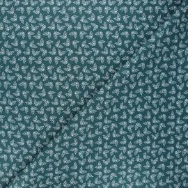 Tissu coton Holly - vert sapin x 10cm