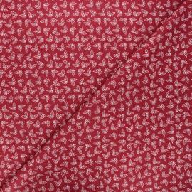 Cotton fabric - burgundy Holly x 10cm