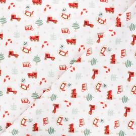 Tissu coton Childhood toys - blanc x 10cm