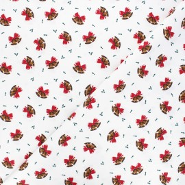 Cotton fabric - raw Jingle bells x 10cm