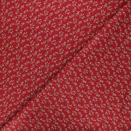 Cotton fabric - dark red Under the mistletoe x 10cm