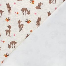 Sweatshirt fabric with minkee reverse - mottled raw Fanny le faon x 10cm