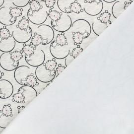 Sweatshirt fabric with minkee reverse - mottled raw Nino le chat x 10cm