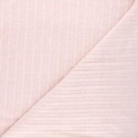 Tissu maille légère Félicie - rose clair chiné x 10cm