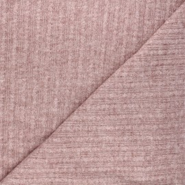 Light knitted fabric - mottled rosewood Félicie x 10cm