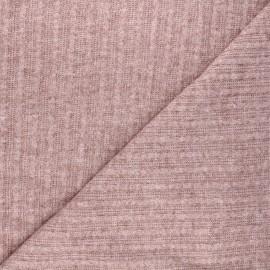 Tissu maille légère Félicie - bois de rose chiné x 10cm