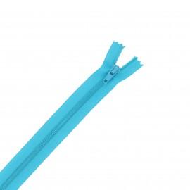 Nylon zipper - turquoise blue