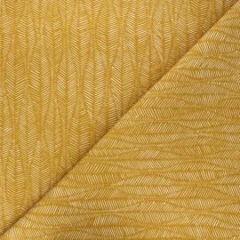 Cotton canvas fabric Thevenon - gold Leaf x 10cm