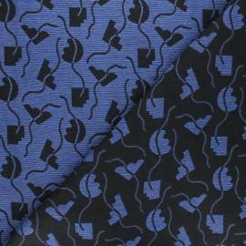 Tissu Walkie Talkie Jacquard Memphis - Pacific x 10cm