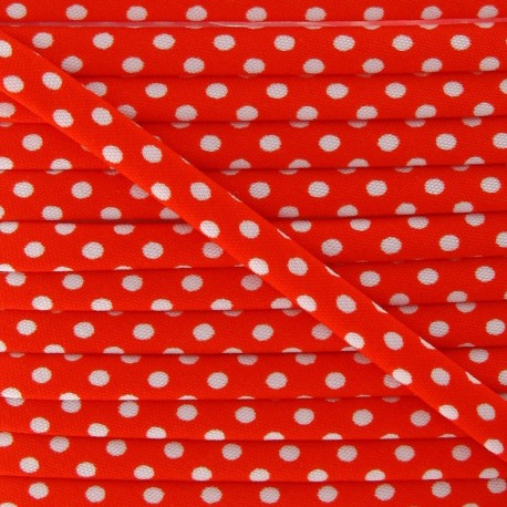 Cord with white polka dots - Orange